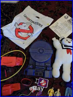 BIG LOT Vtg Kenner Toys The Real Ghostbusters Firehouse Figures Staypuff plush +