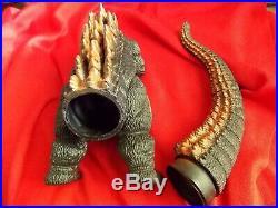 BIG Vintage BURNING GODZILLA 1995 / BANDAI Sofubi PVC Figure Height 9 22cm TOY
