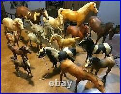BREYER MOLDING HORSE & PONY MIXED LOT (16) Small & Large Figures VINTAGE TOY