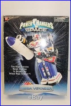 Bandai Vintage Power Rangers In Space Deluxe Mega Voyager Figure Toy & Box