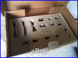 Barclay Winter Set in Original Box Santa Reindeer Skaters