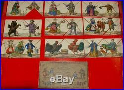 Biedermeier metamorphosis game with figurative scenes germany at 1850-1860