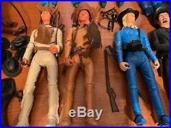 Big Lot Marx Brand Johnny West Figures 12 Tall and Accessories 1960s/1970s
