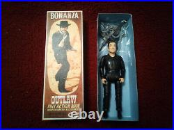 Bonanza American Character Outlaw Figure And Horse (restored) Please Read