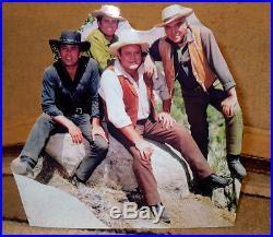 Bonanza TV, Paw, Hoss, Little Joe & Adam Figure Tabletop Display Standee 7.5