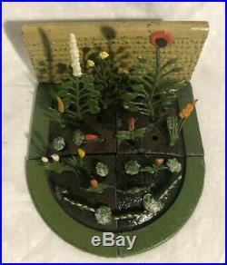 Britain's Floral Garden Lead Figures RARE Patio Set 1930's Flowers 28 pieces
