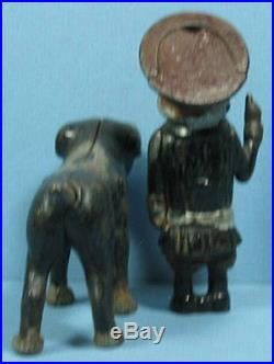 Buster Brown & Tige Cast Iron Figures Authentic & Old So Cute & Now On Sale T233