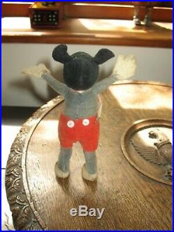 CHARMING EARLY MICKEY MOUSE DEANS RAG BOOK FIGURE 1930's WALT DISNEY doll toy