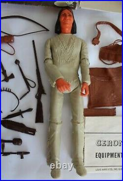 COMPLETE VINTAGE JOHNNY WEST MARX GERONIMO ACTION FIGURE WithBOX & ACCESSORIES