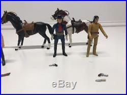 COMPLETE Vintage 1980 Gabriel Legends LONE RANGER Lot of 5 Figures & 3 Horses