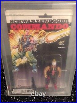 Commando 1985 Arnold Schwarzenegger PSYCHO Figure Graded UKG 85 MOC