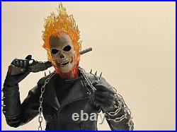 Complete! Hot Toys Ghost Rider & Hell Cycle Nicolas Cage 1/6 Figure mms133