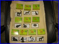 Complete Set 10 withboxes 1972 MARX Vanishing Animals Series II plastic figures