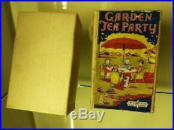 Crescent very rare Garden Tea Party set boxed vintage toy lead Figures