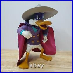 Darkwing Duck Giant 12 Action Figure Vintage Playmates Toy 1991 With hat & Cape