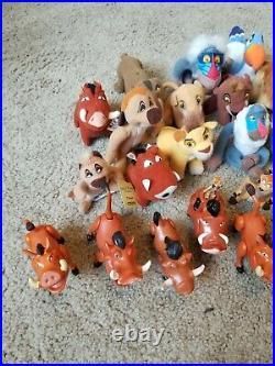 Disney's The Lion King Vintage Action Figure Toy LOT Simba Nala Scar Sarabi