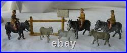 Donkey Ride Taylor & Barrett Miniature Lead Figure Dollhouse Farm Garden Train
