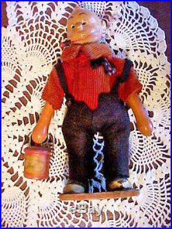 EARLY 1900's WOODEN TOY/FIGURES JIGGS & MAGGIEBY SCHOENHUT McMANUS COMICS, R