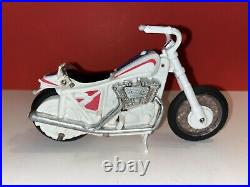 EVEL KNIEVEL Stunt Cycle / Launcher / Figure with Metallic Stripes and Belt
