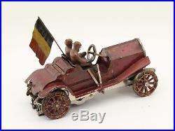 Early Lionel electric Slot Car ca 1920 racing original figures rare antique