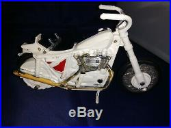 Evel Knievel 1970's Stunt Cycle & Action Figure with Yellow Launcher & BoxWORKS