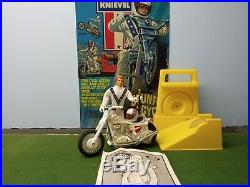Evel Knievel 1970s Rare Action Figure with chrome 2nd edition bike