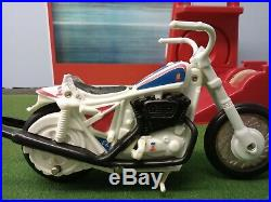 Evel Knievel 1970s Stunt Cycle Bike & Evel Action Figure Ideal Vintage Toy Set