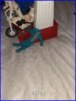 Evel Knievel 1970s Vintage Evel Doll Action Figure Stunt Cycle Launcher