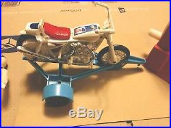 Evel Knievel 1970s Vintage Stunt Cycle & Action Figure, trailer, VGC