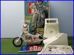 Evel Knievel 1st edition figure and second edition chrome bike set. Ultra Rare