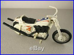 Evel Knievel'70s Stunt Cycle + Action Figure/Helmet Vintage Ideal Toy EX COND