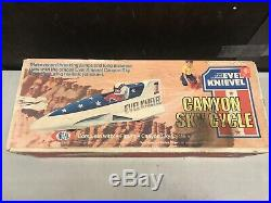 Evel Knievel Canyon Sky Cycle Ideal 1974 With Action Figure Original Box