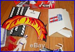 Evel Knievel Deluxe Dare Devil Stunt Set Cycle Action Figure Launcher Rare B994