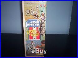 Evel Knievel GT Stunt Cycle Toy Motorcycle Gyro & Figure (Mint In Box) Unused