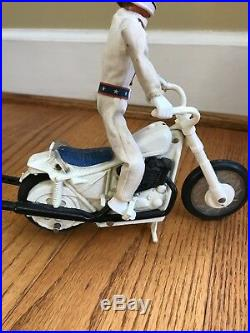 Evel Knievel Ideal Harley Davidson Stunt Cycle Bike Evil Action Figure 70s Toys