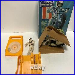Evel Knievel Stunt Cycle MIB Figure, Helmet, Belt, Energizer Nice Box and Insert