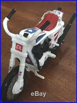 Evel Knievel Stunt Cycle Motorcycle Works- Nice & 2 Near Mint Evel Figures! VGC