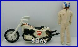 Evel Knievel Stunt Cycle Set Vintage 1970's Toy, Motorcycle Energizer & Figure