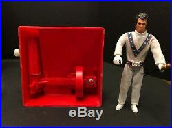 Evel Knievel Stunt Cycle WIDE TIRE, 1st Ed. GREY HAIR Figure withRAMS HORN Helmet