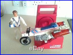 Evel Knievel Super Jet Cycle With Evel Figure And Sidewinder Good Condition