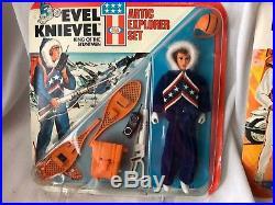 Evel Knievel Vintage Figures MOC Racing Rescue Arctic Explorer Sets Ideal Toys
