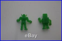 Exogini 80's 80s GREEN Ninja Testa di Roccia Toro Vintage RARE Figure Toy LOT