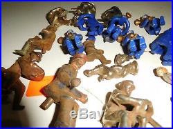 FIGURES large lot of cast iron figures Kenton Hubley Dent Hillclimber car farm