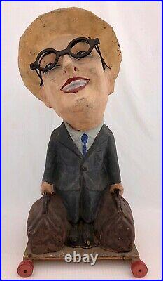 French Papier Mache Passe BouleCarnival Game Harold Lloyd Figure, Early 1920s