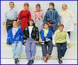 Full set 9 Mego HAPPY DAYS TV Show 8 Action Figures Dolls 2004 Classic Toys r2
