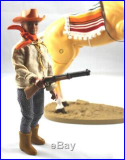 GABRIEL LONE RANGER MARX DAN REID WithHORSE BANJO AND STAND COWBOY FIGURE GREAT
