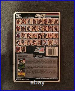 GI Joe 1989 Cobra Night Viper On Card Action Figure Vintage Hasbro Toy MOC NRF