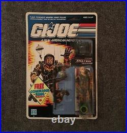 GI Joe 1990 Free Fall On Card Action Figure Vintage Hasbro Toy MOC NRFP