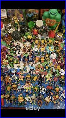 Giant Teenage Mutant Ninja Turtles Toy 100+ Action Figures Lot TMNT Vintage 80s