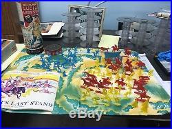 Gibbs 1959 Custer Last Stand Flats Playset 80 Figures, PlayMap, Original Box
